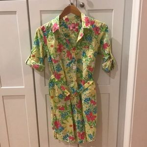 Lilly Pulitzer Floral Shirt Dress